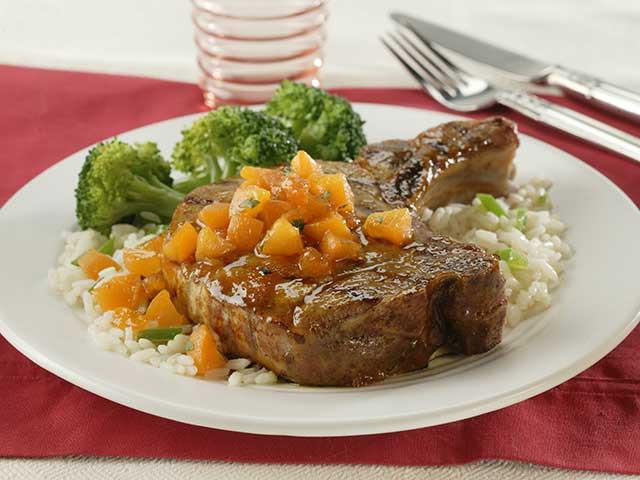 Apricot Pork Chops  Apricot Glazed Pork Loin Chops Pork Recipes Pork Be