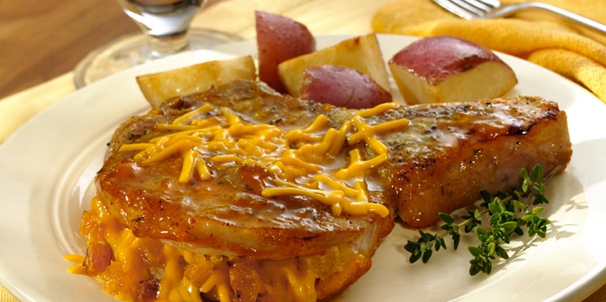 Apricot Pork Chops  Cheddar Apricot Pork Chops