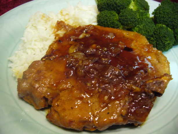 Apricot Pork Chops  Asian Apricot Glazed Pork Loin Chops Recipe Food