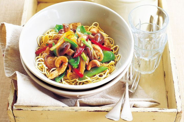 Are Egg Noodles Healthy  Stir fried chicken with egg noodles