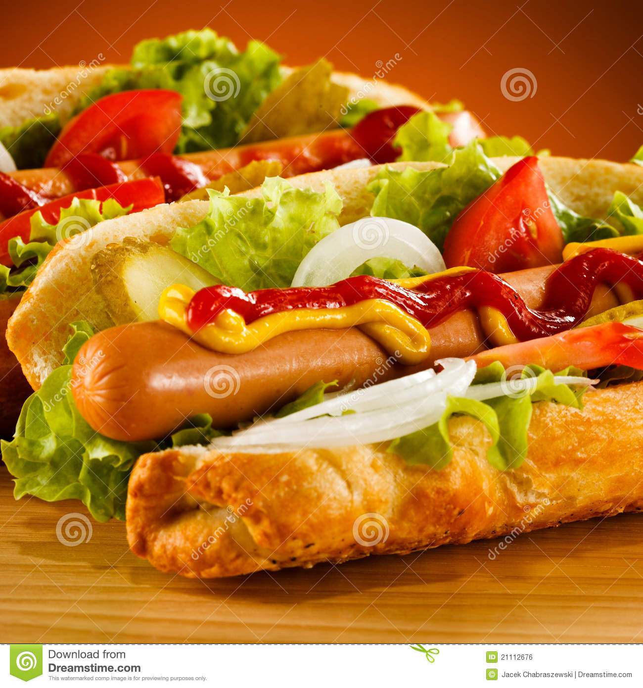 Are Hot Dogs Sandwiches  Hot dog stock photo Image of appetizer ve ables bread