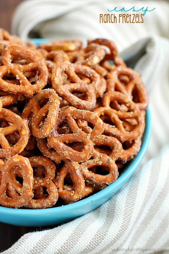 Are Pretzels Healthy  Easy Ranch Pretzels Yummy Healthy Easy