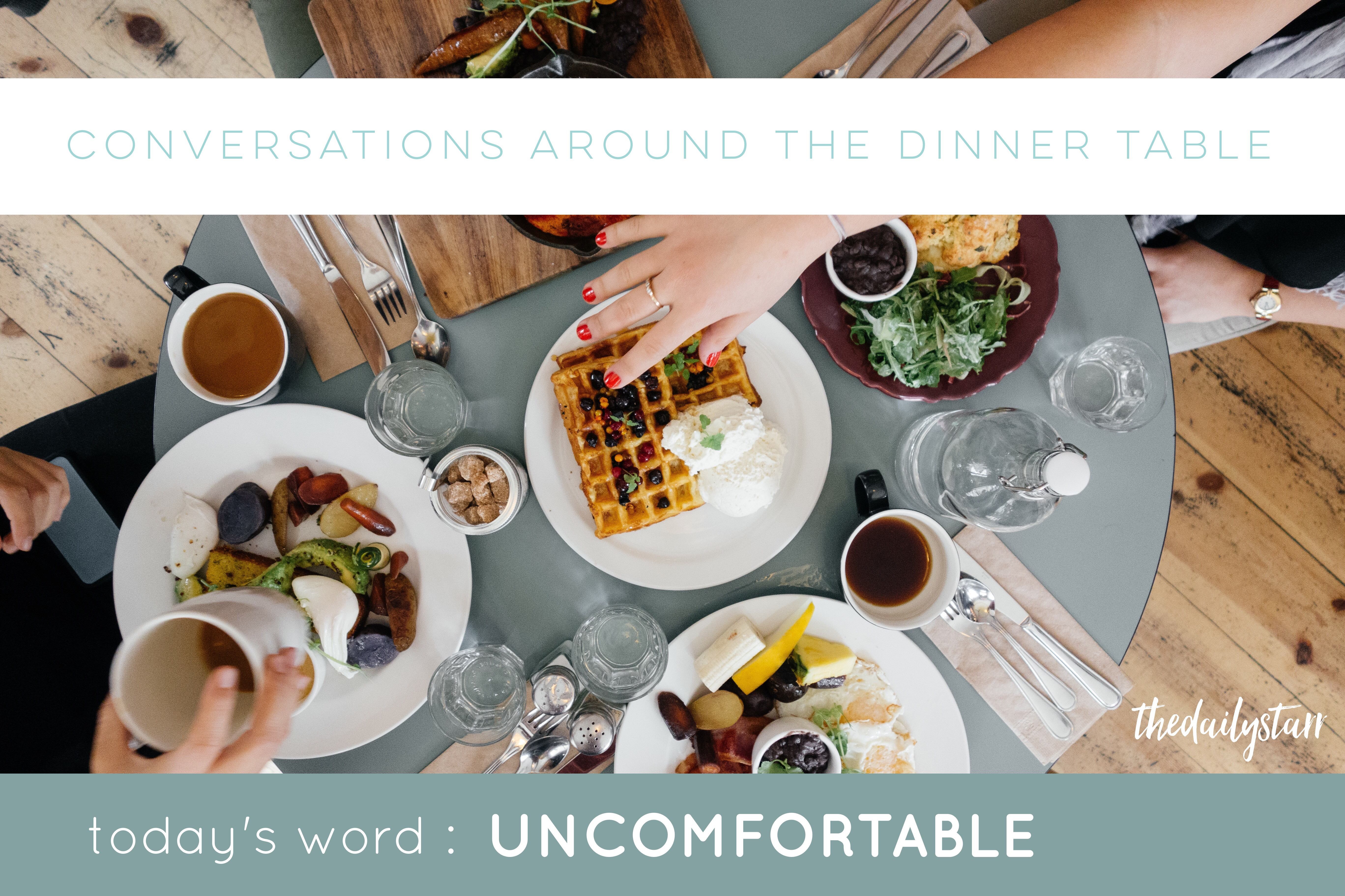 Around The Dinner Table  1wordwednesday un FORTABLE conversations around the