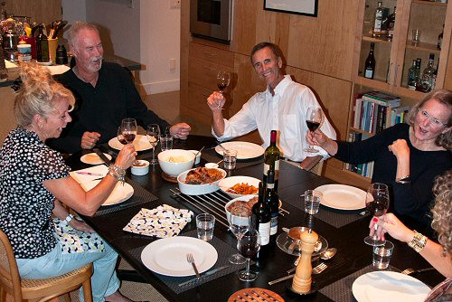 Around The Dinner Table  Good Partying EntertainingCouple