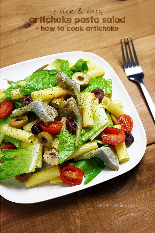 Artichoke Pasta Salad  canned artichoke heart recipes