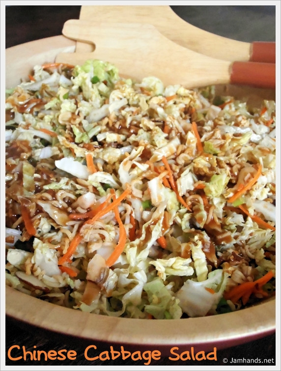 Asian Cabbage Salad  Jam Hands Chinese Cabbage Salad
