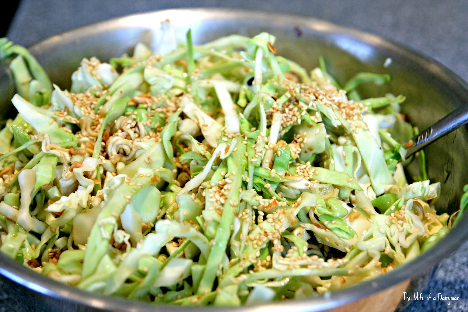 Asian Cabbage Salad  The Wife of a Dairyman Churned in Cali TT w Linky Easy