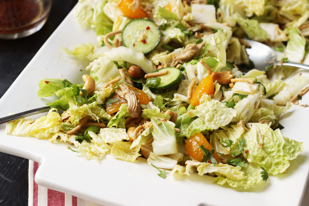Asian Cabbage Salad  Asian Cabbage Salad with Chicken and Mandarin Oranges