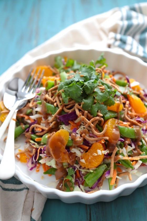 Asian Cabbage Salad  Fit Friday Mandarin Orange Cabbage Salad with Peanut