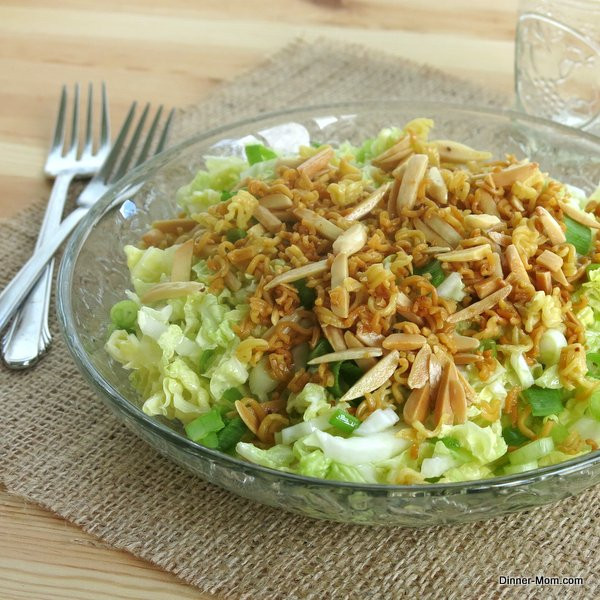 Asian Cabbage Salad  Chinese Napa Cabbage Salad with a Crunchy Topping The