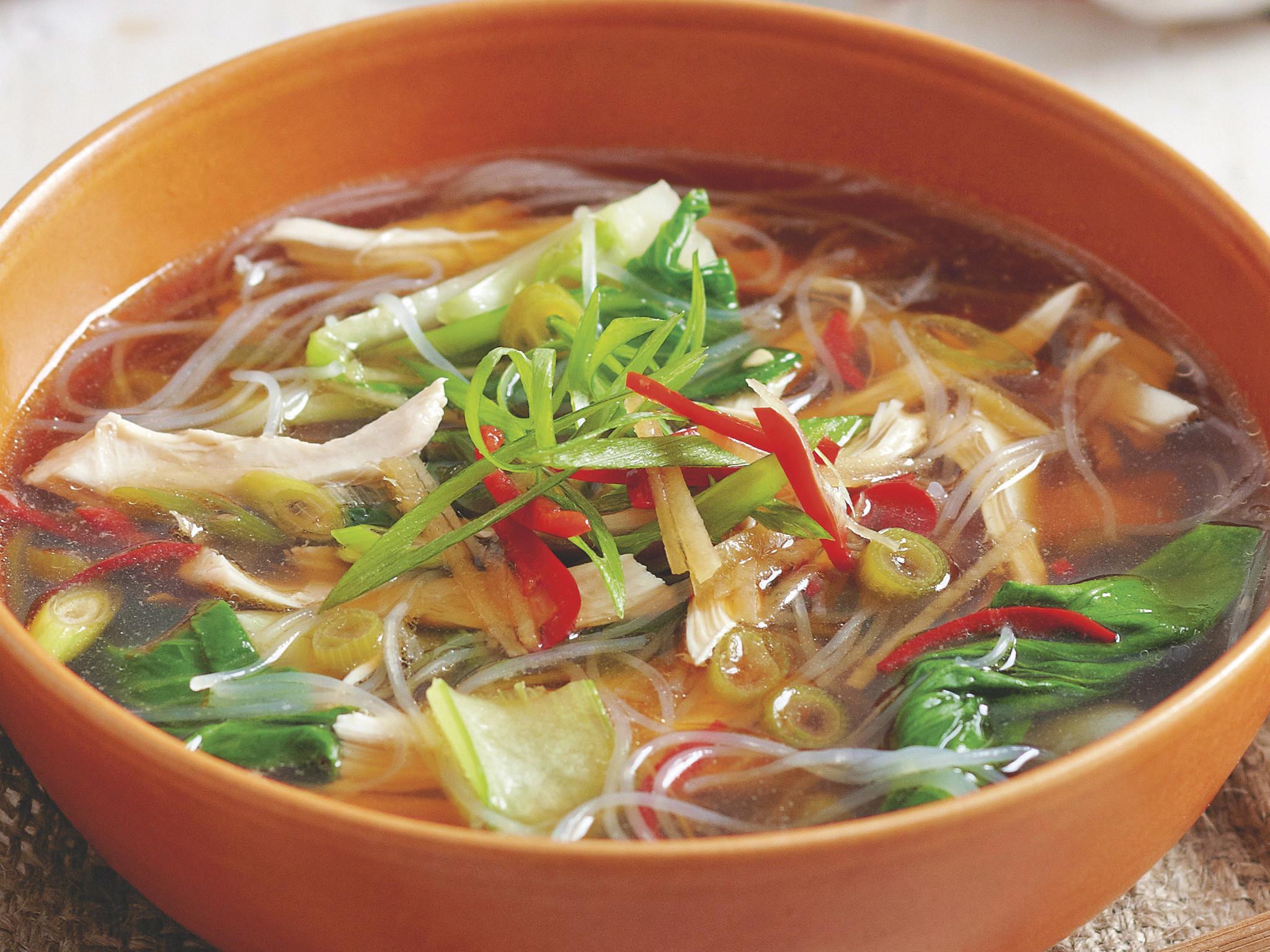 Asian Chicken Soup  vermicelli noodle soup recipe