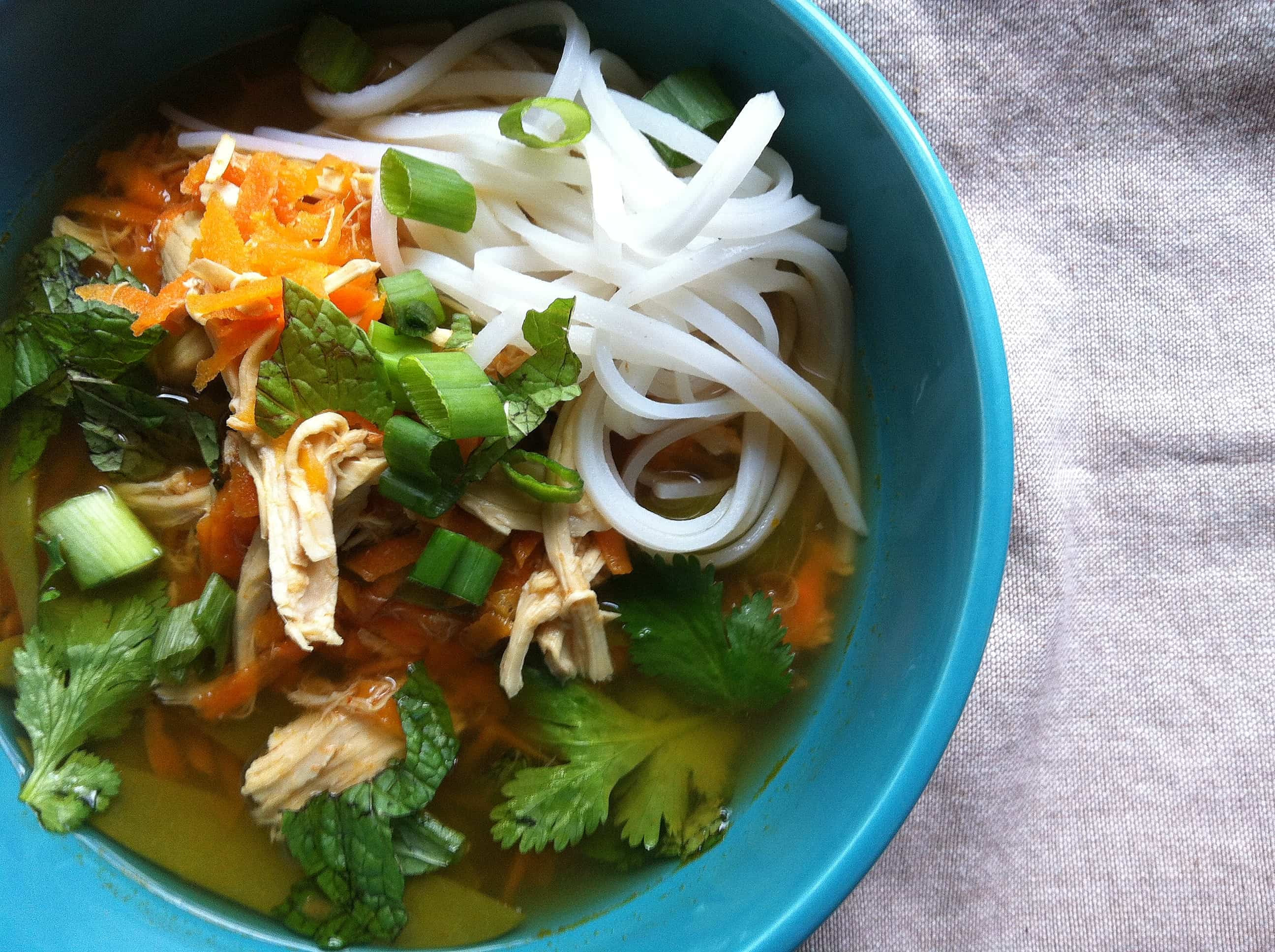 Asian Chicken Soup  Spicy Asian Chicken And Noodle Soup Recipe A Cedar Spoon