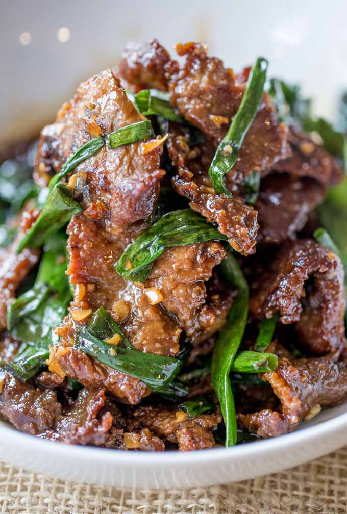 Asian Dinner Recipes  Easy Mongolian Beef Dinner then Dessert