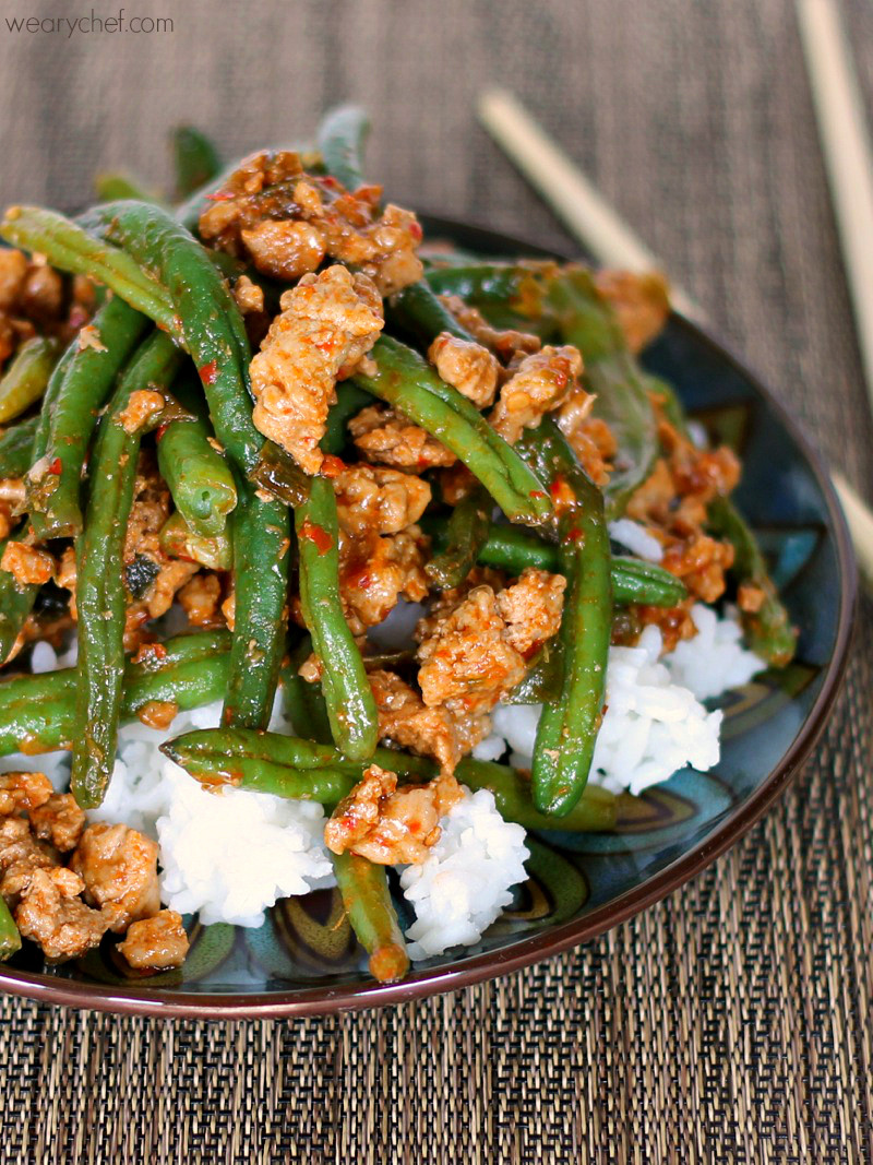Asian Dinner Recipes  Favorite Chinese Green Beans with Ground Turkey The