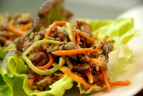 Asian Ground Beef Recipes  Asian Ground Beef Mushroom and Broccoli Slaw Lettuce