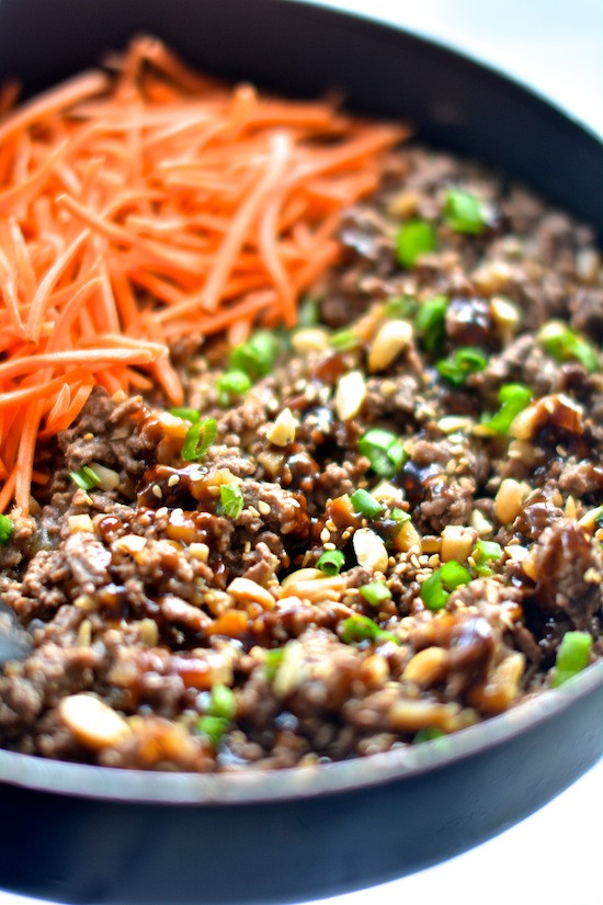 Asian Ground Beef Recipes  Healthy Asian Lettuce Wraps Apple of My Eye