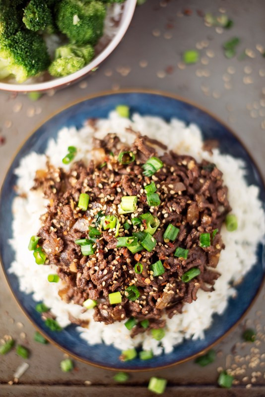 Asian Ground Beef Recipes  15 Minute Healthy Asian Beef Bowl Apple of My Eye