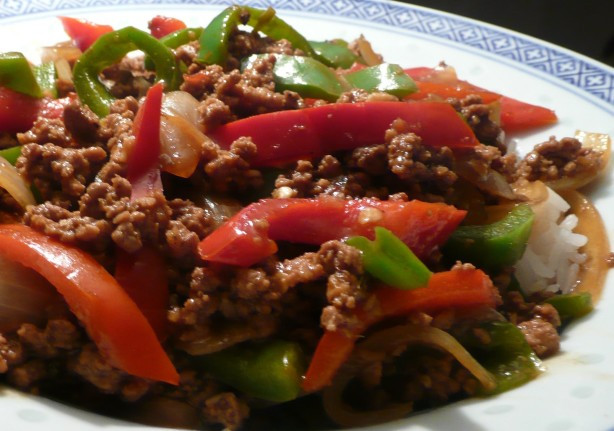 Asian Ground Beef Recipes  Asian Ground Beef Pepper And ion Saute Recipe Food