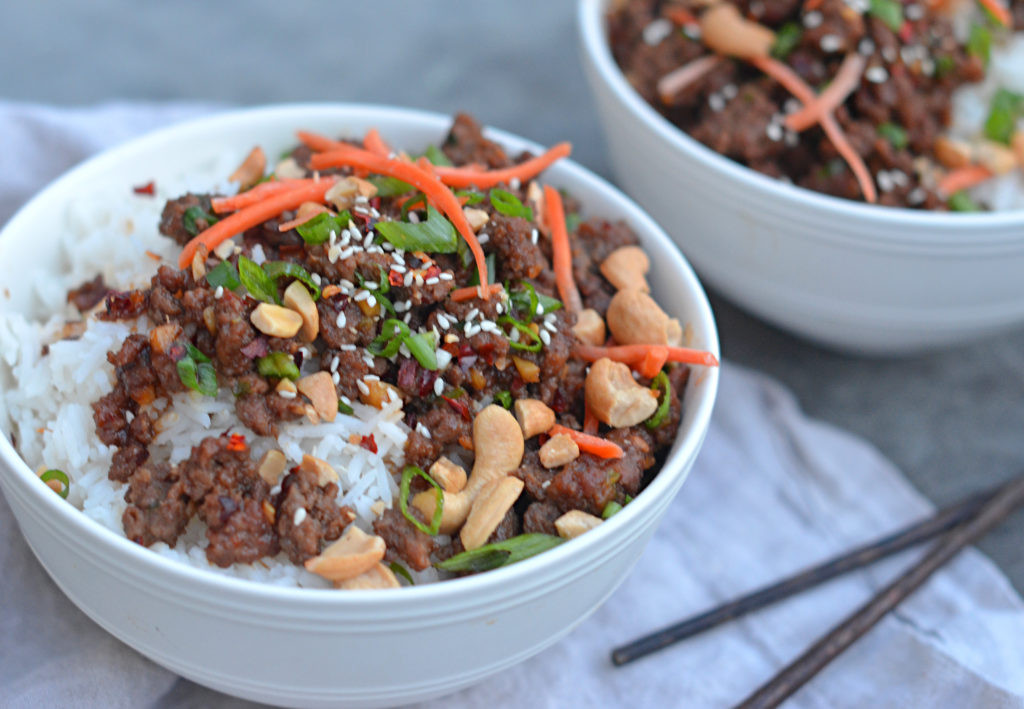 Asian Ground Beef Recipes  30 Minute Asian Beef Bowls ce Upon a Chef