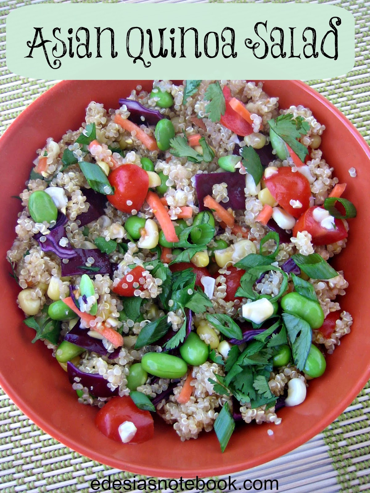 Asian Quinoa Salad  The Salad Bar Asian Quinoa Salad Edesia s Notebook