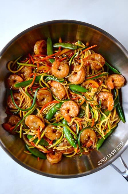 Asian Shrimp Recipes  Asian Zucchini Noodle Stir Fry with Shrimp