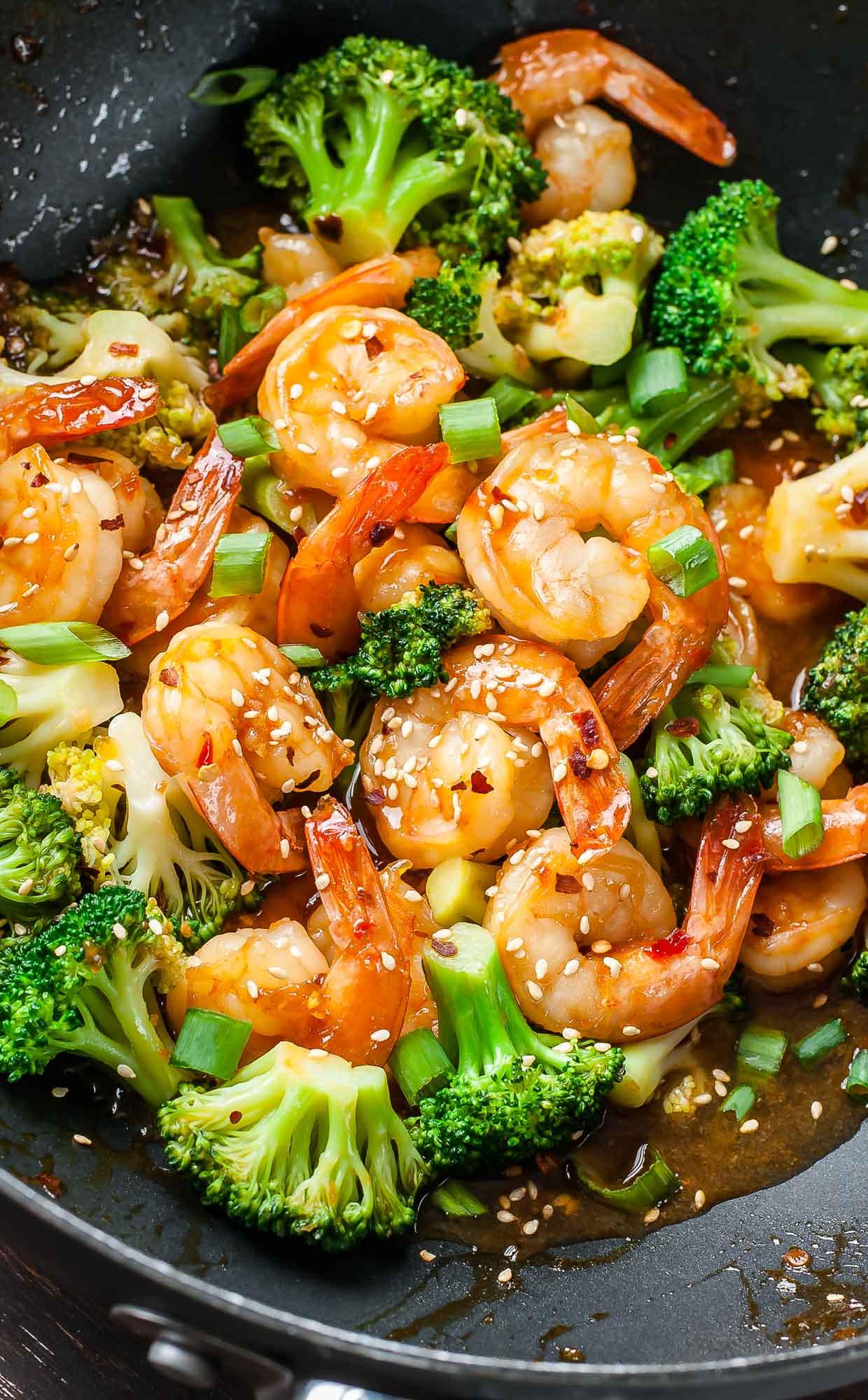 Asian Shrimp Recipes  Szechuan Shrimp and Broccoli Peas And Crayons