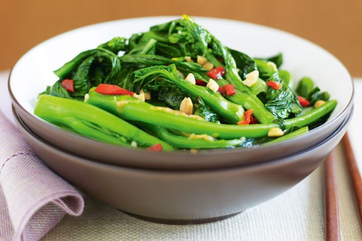 Asian Vegetable Recipes  Stir fried Asian greens