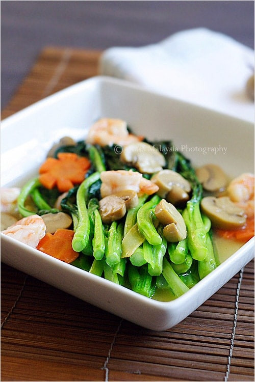 Asian Vegetarian Recipes  Chinese Ve ables Choy Sum