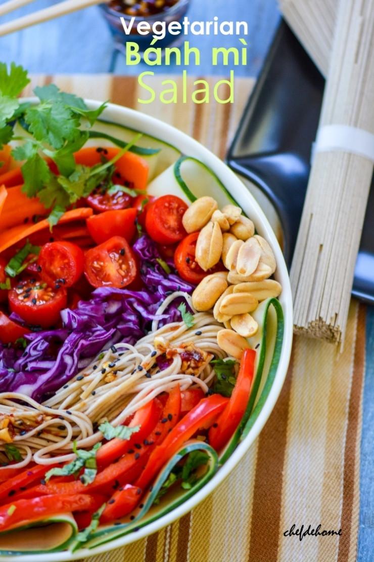 Asian Vegetarian Recipes  Asian Ve arian Banh Mi Salad Recipe