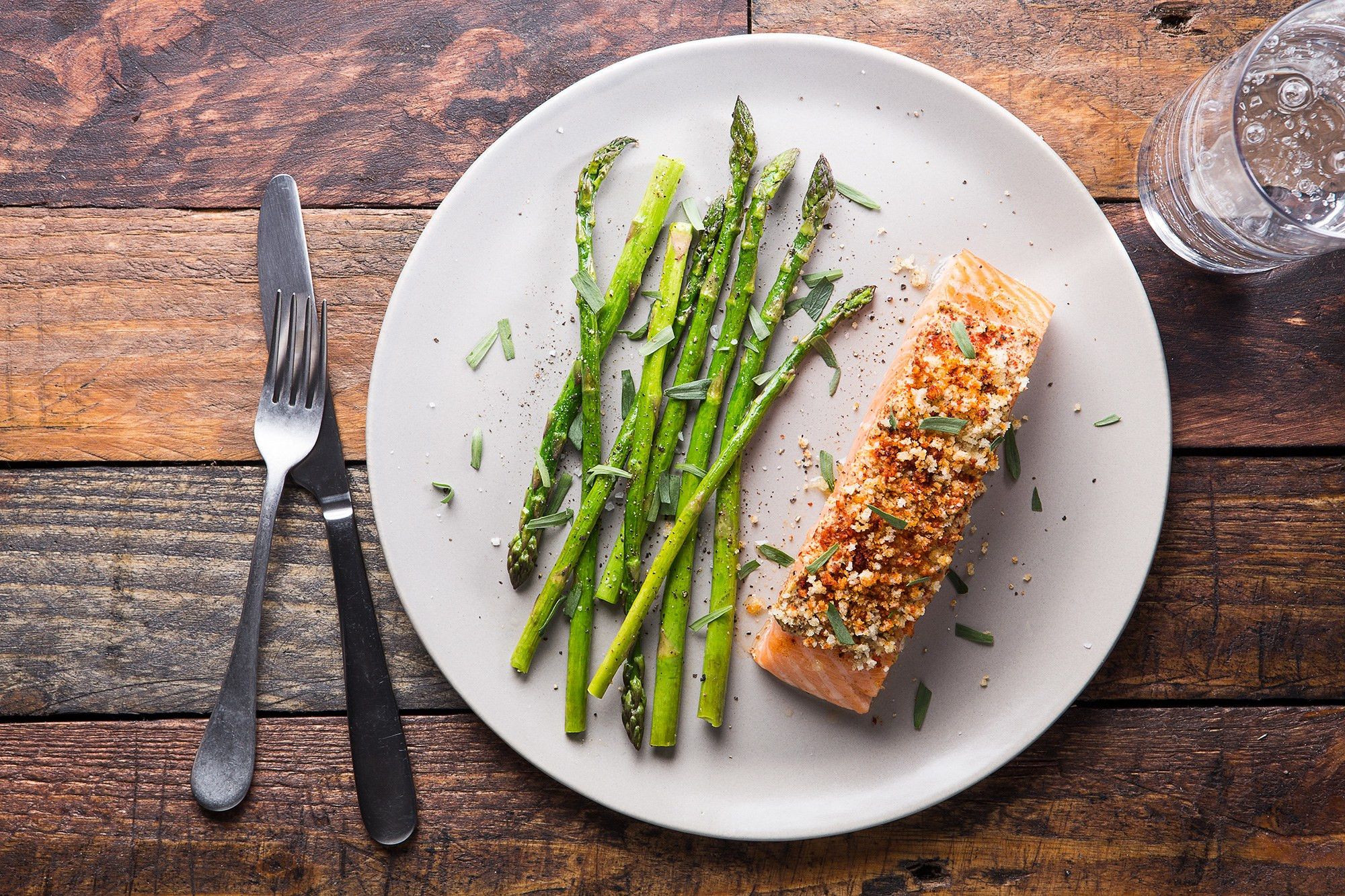 Asparagus And Salmon  Baked Mustard Crusted Salmon with Asparagus and Tarragon