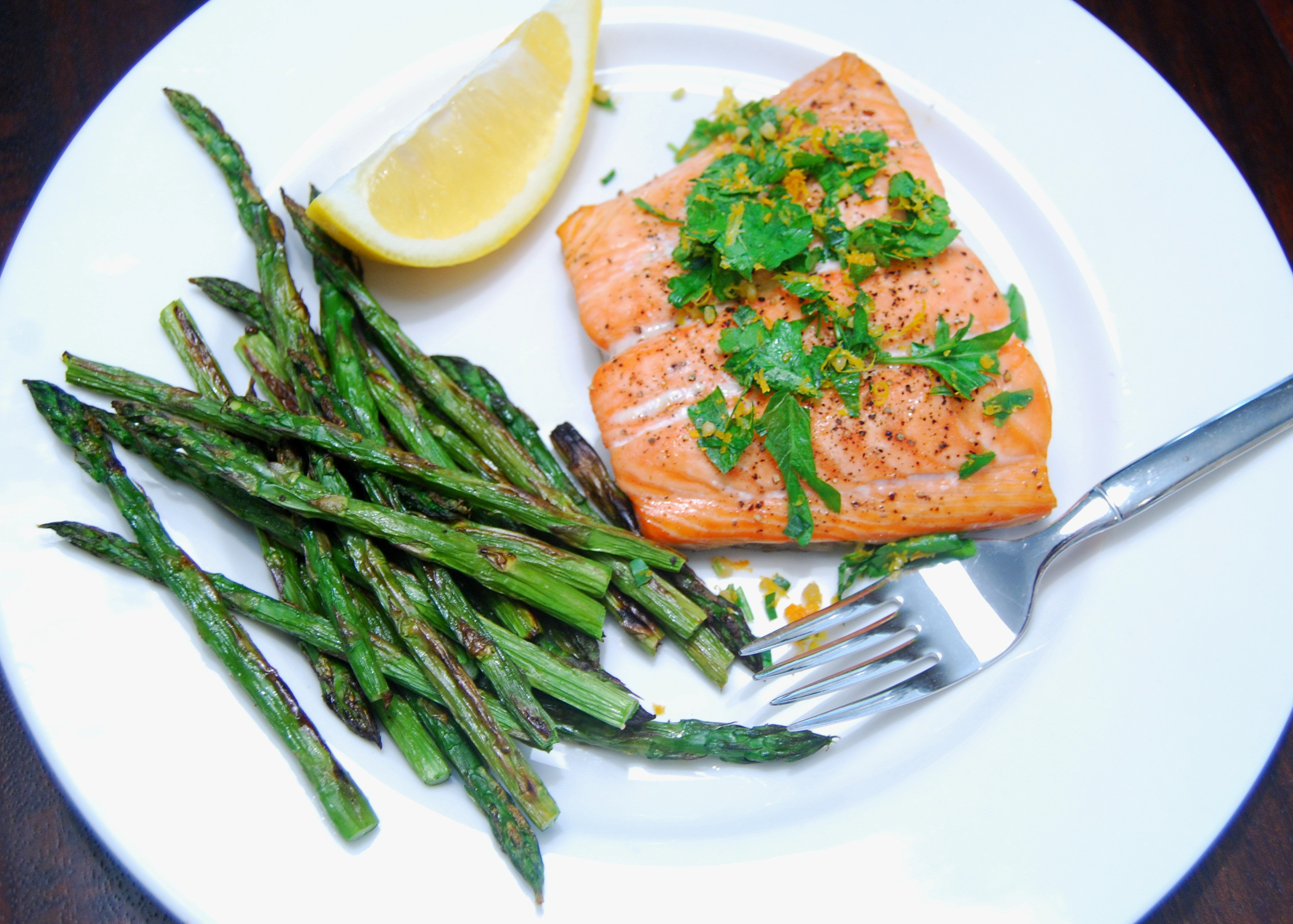 Asparagus And Salmon  Fish