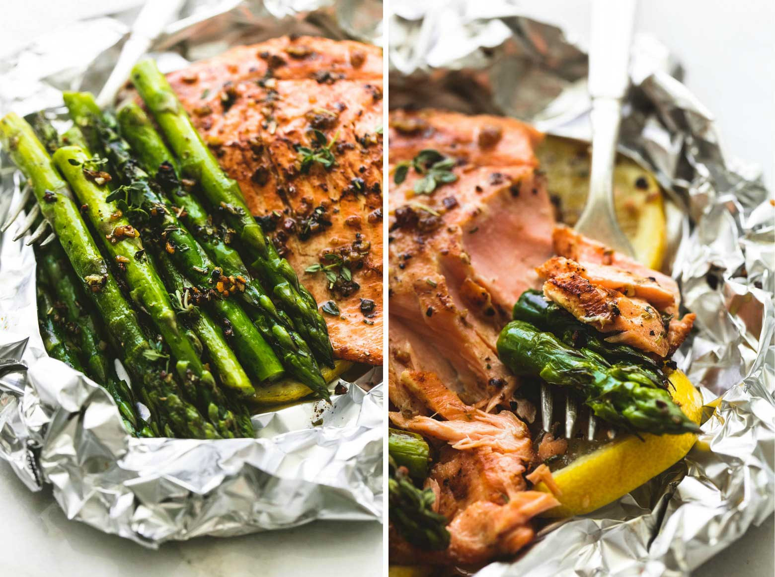 Asparagus And Salmon  Herb Butter Salmon and Asparagus Foil Packs
