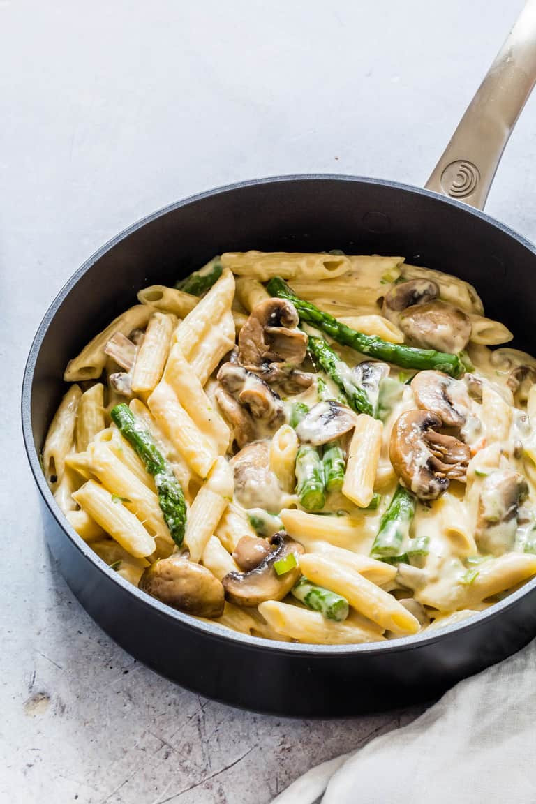 Asparagus Pasta Recipe  Mushroom Asparagus Pasta Recipes From A Pantry