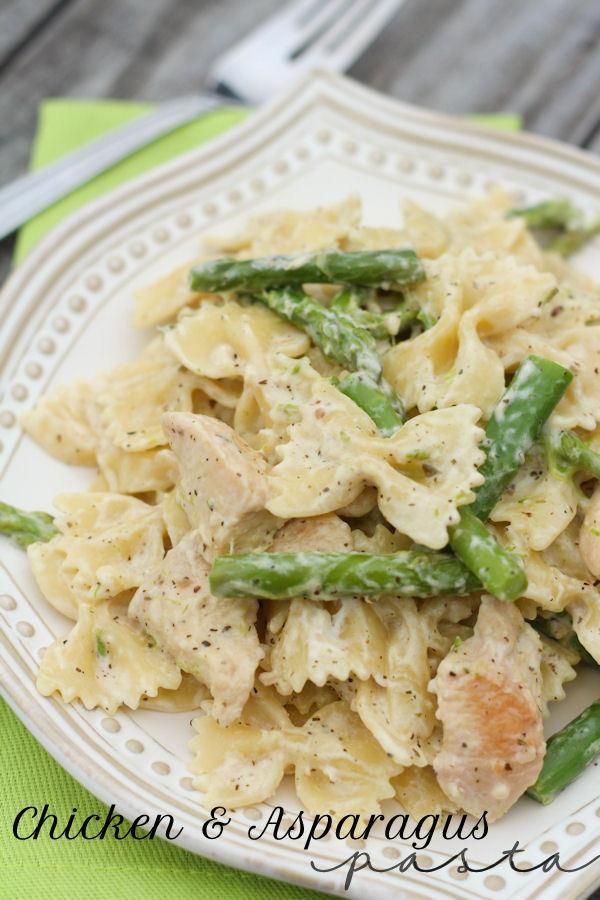 Asparagus Pasta Recipe  Chicken and Asparagus Pasta