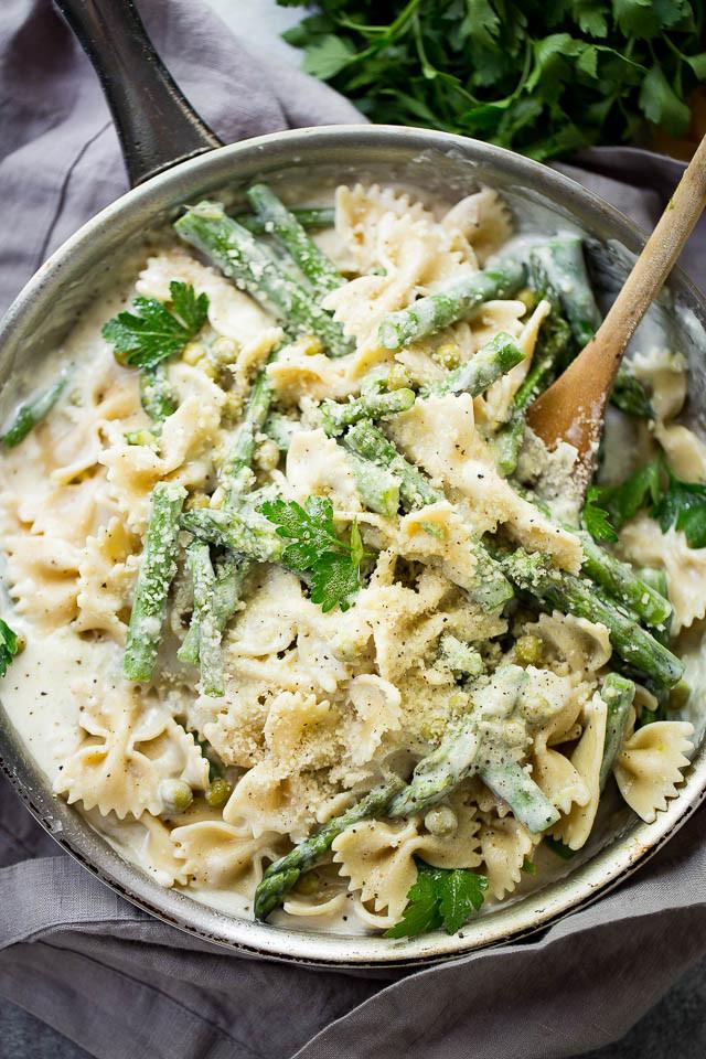 Asparagus Pasta Recipe  Creamy Asparagus Pasta Recipe