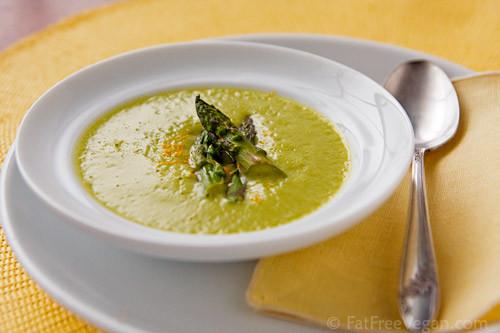 Asparagus Soup Vegan  Roasted Asparagus Soup