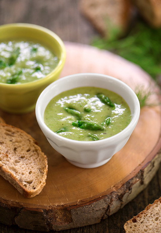 Asparagus Soup Vegan  Vegan Cream of Asparagus Soup