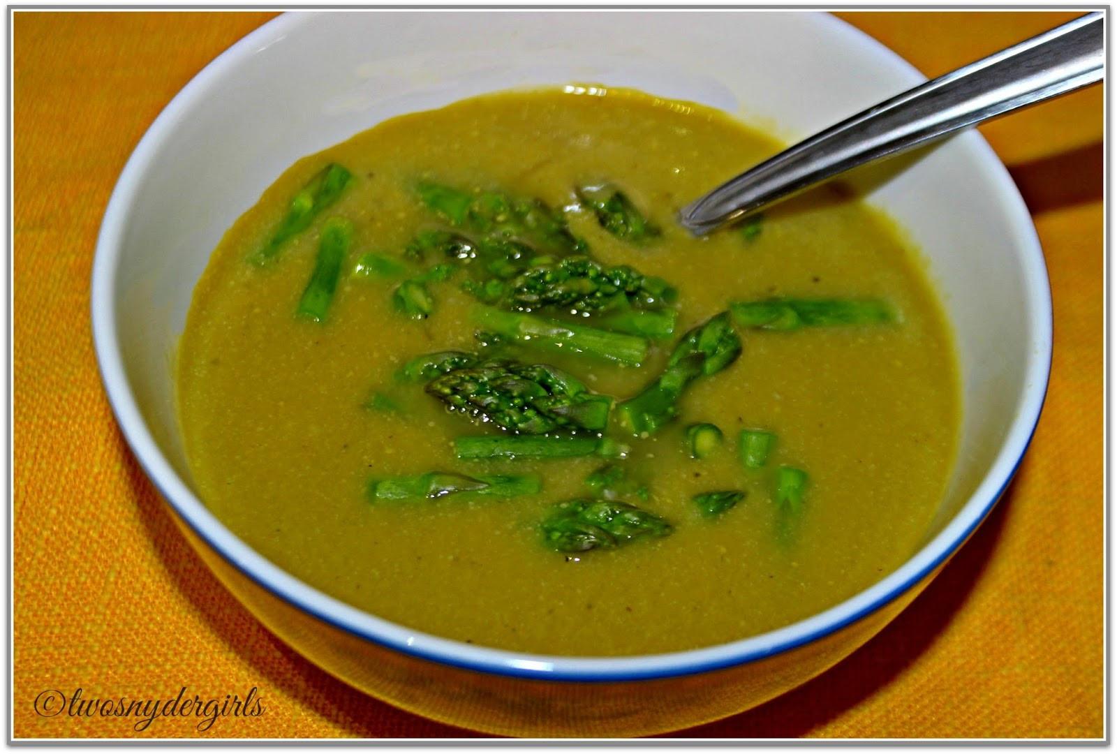 Asparagus Soup Vegan  Grandparents & Grandchildren Asparagus soup Vegan