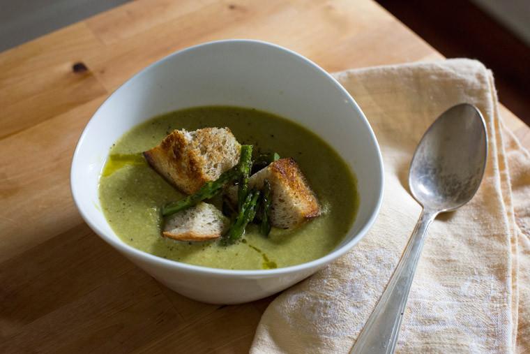 Asparagus Soup Vegan  Roasted Asparagus Soup Earthy Feast