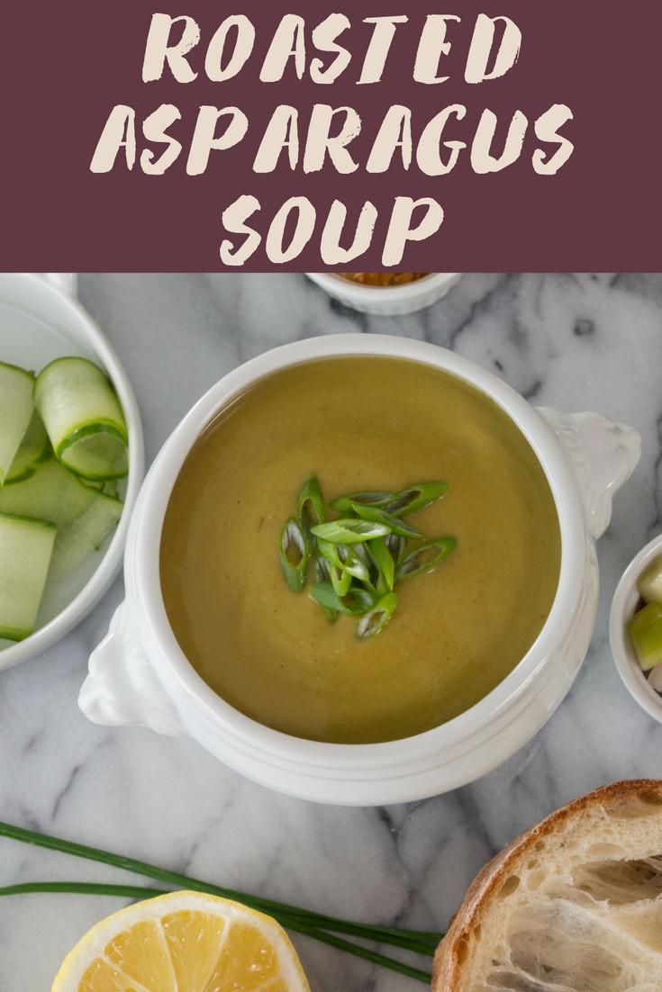 Asparagus Soup Vegan  Roasted Asparagus Soup Vegan or Ve arian Morsels of