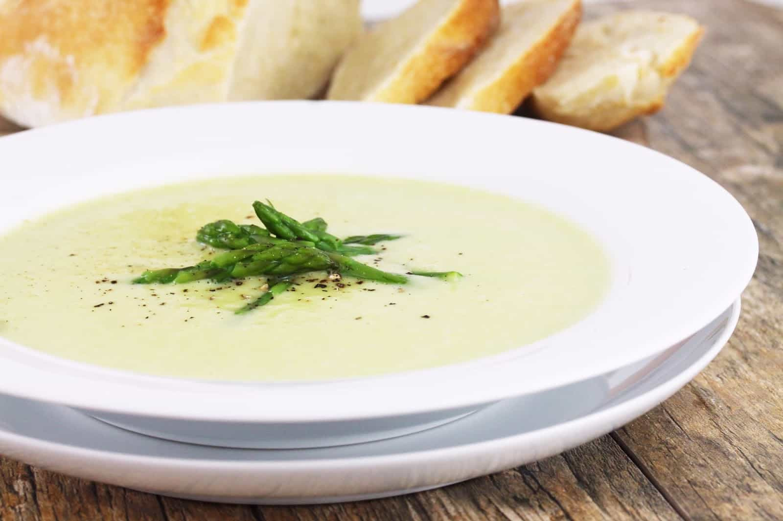 Asparagus Soup Without Cream  asparagus soup without cream