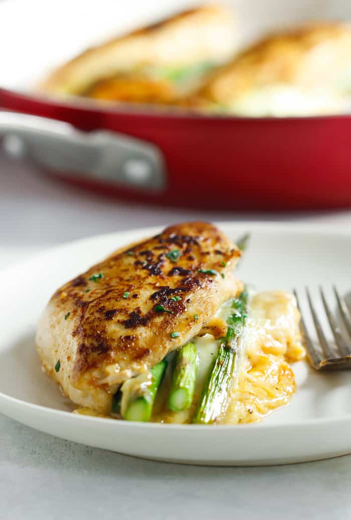 Asparagus Stuffed Chicken Breast  Asparagus Stuffed Chicken Breast Delicious e Pan Low