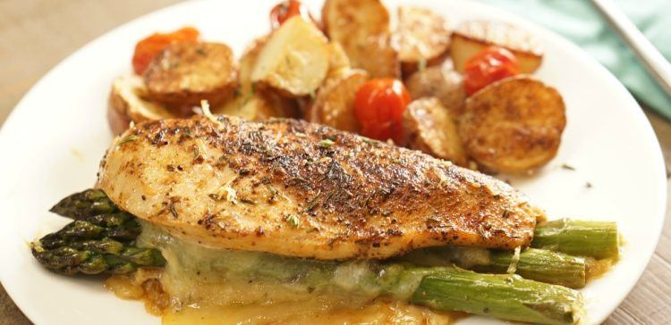 Asparagus Stuffed Chicken Breast  Easy Asparagus Stuffed Chicken Recipe & Video