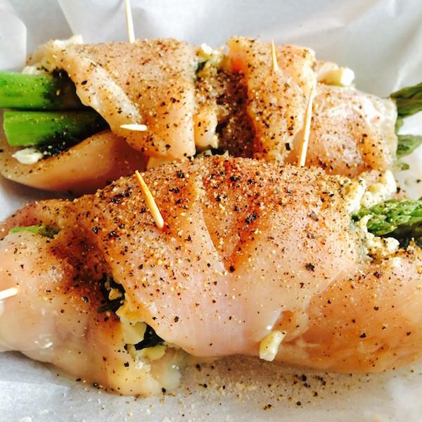 Asparagus Stuffed Chicken Breast  Garlic Feta Asparagus Stuffed Chicken [plus how to