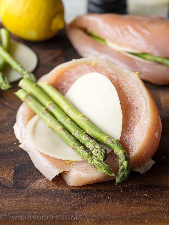 Asparagus Stuffed Chicken Breast  Asparagus Stuffed Chicken Breast I Wash You Dry