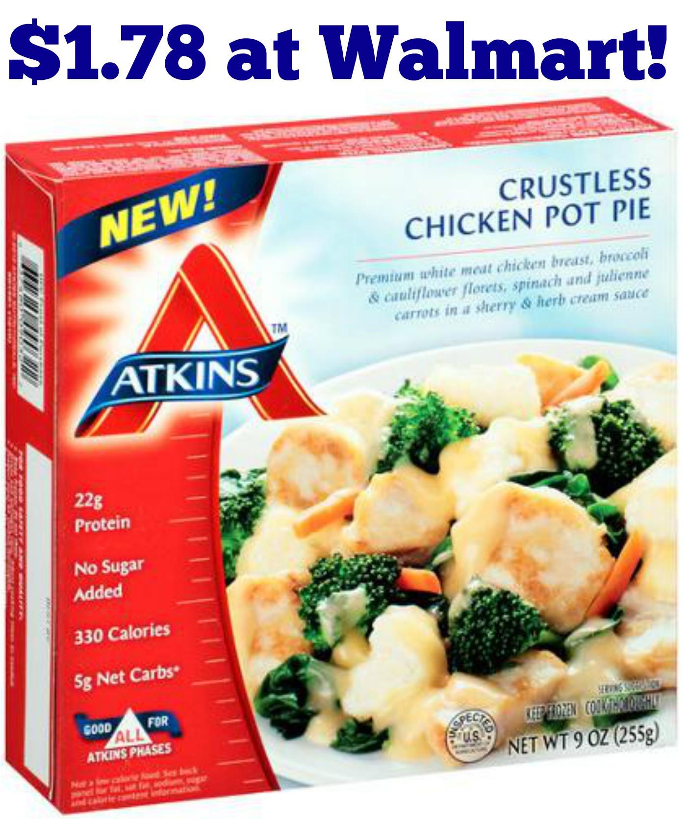 Atkins Frozen Dinners  Atkins Frozen Meals $1 78 at Walmart AddictedToSaving