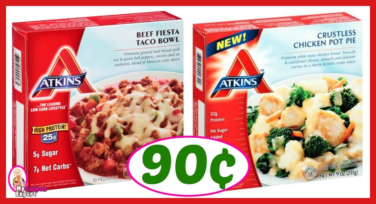 Atkins Frozen Dinners  Winn Dixie Hot Deal Alert Atkins Frozen Entrees ly 90