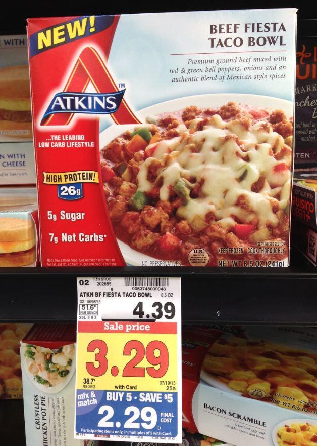 Atkins Frozen Dinners  Print & Save BOGO Atkins Coupon Up ing Catalina = $0