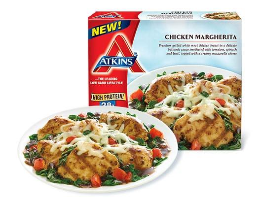 Atkins Frozen Dinners  Chicken Margherita