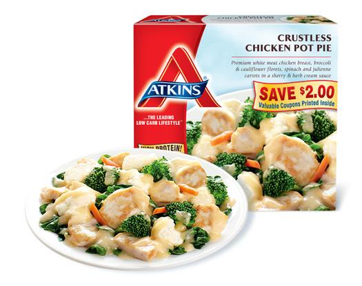 Atkins Frozen Dinners  Crustless Chicken Pot Pie